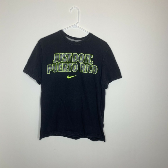 Nike Other - Nike Mens L Black Just Do It Puerto Rico Shirt
